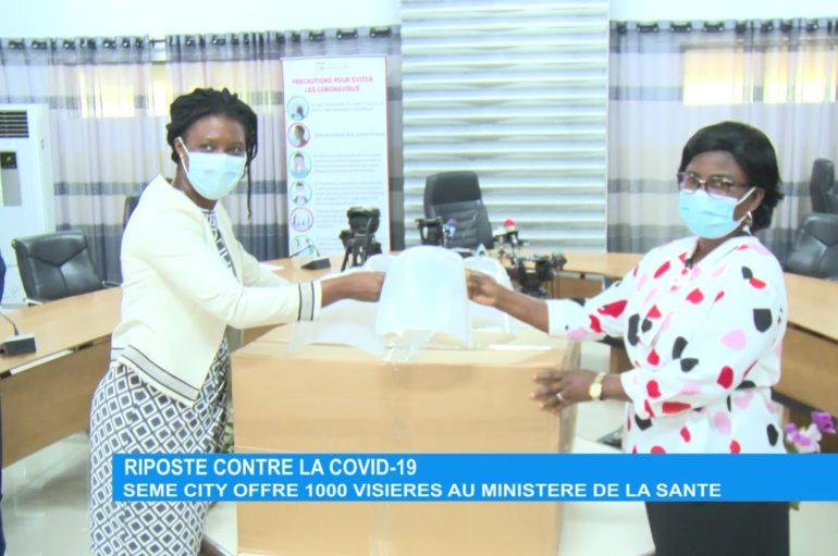Riposte contre la Covid-19 : Sèmè City offre 1000 visières au ministère de la Santé